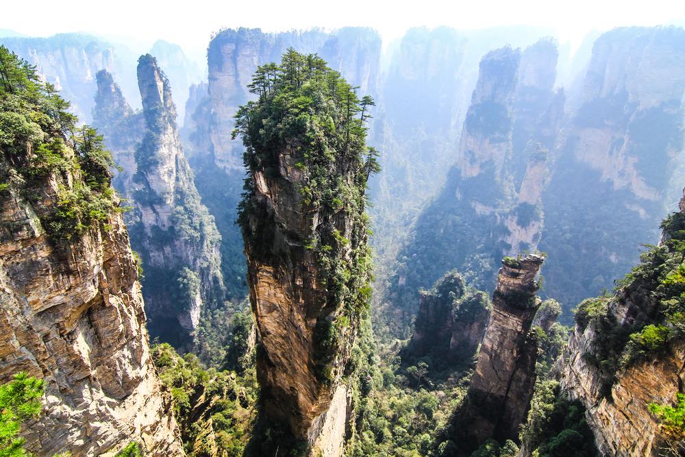 Monte Tianzi, China