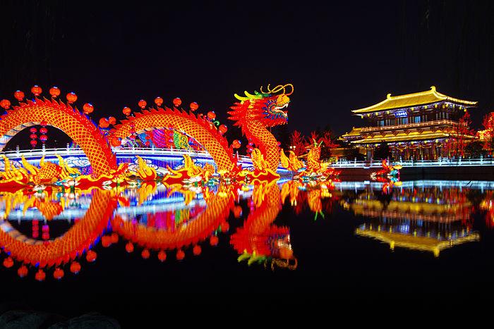 dragón año nuevo chino