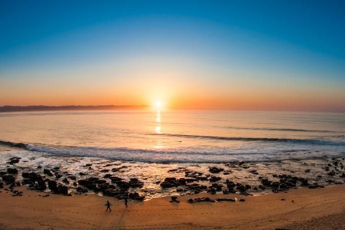 Playa para hacer surf en Sudáfrica Jeffrey´s Bay