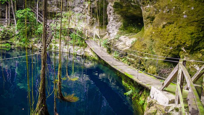 Ruta de los cenotes en Cancún, cenote abierto
