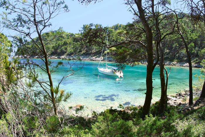 Isla de Mljet en croacia