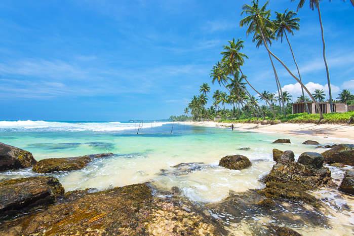 Playa Unawatuna de Sri Lanka