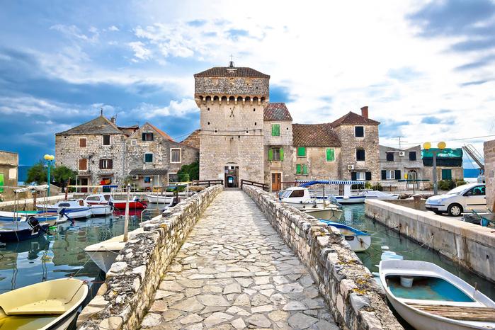 Casco historico de Split en Croacia