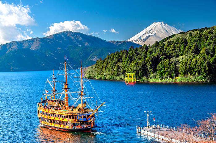 Ruta de los trtansportes de Hakone
