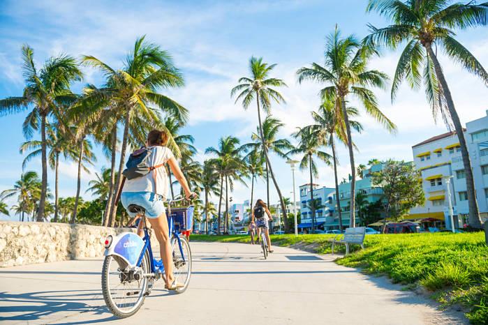 paseo en bici en ocean drive