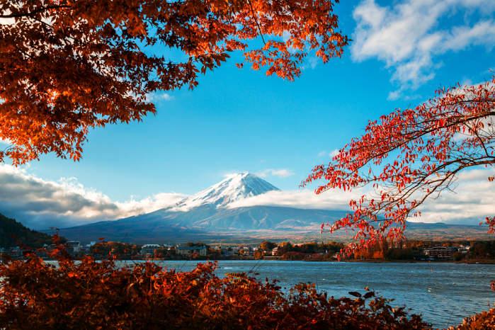 Vista del monte Fuji desde Hakone
