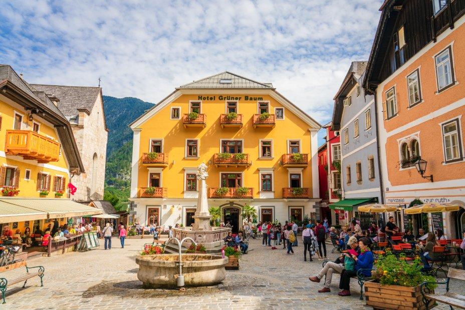plaza del mercado Hallsatt